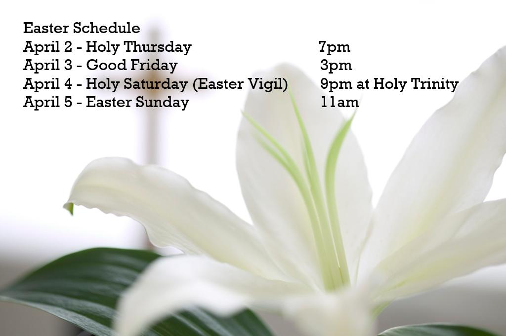 Saint Joachim's Schedule